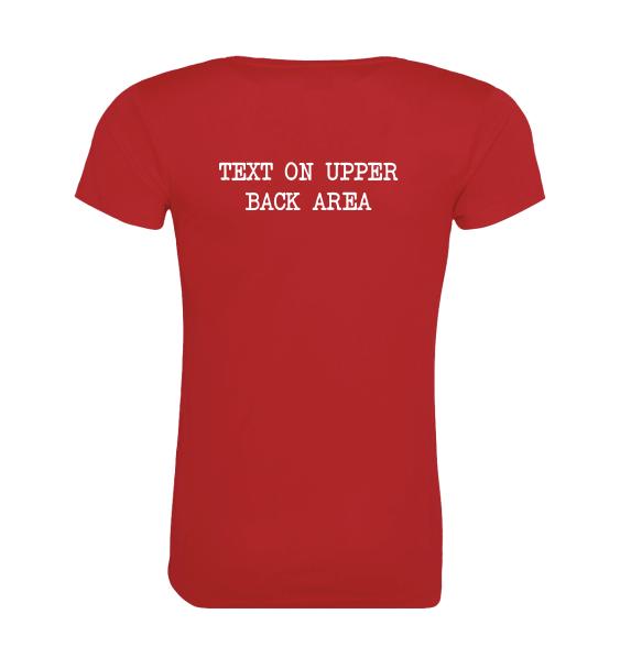custom running t-shirt