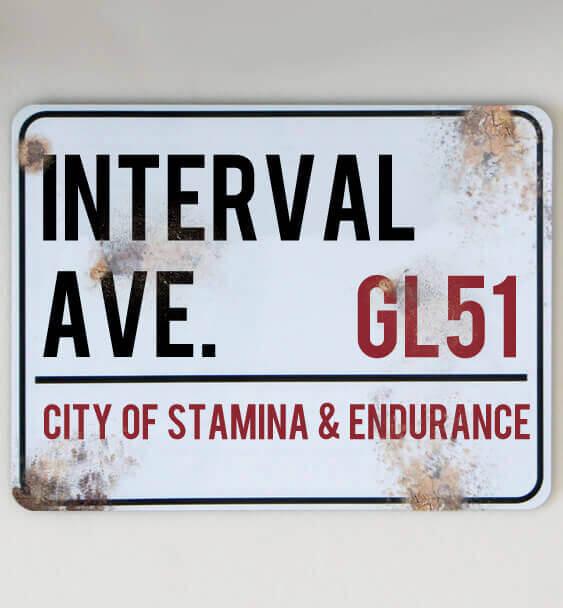 metal street sign