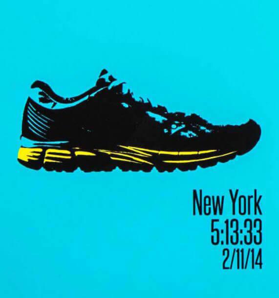 Runners pop art print