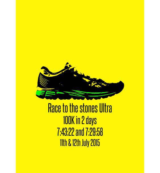 Runners popart print