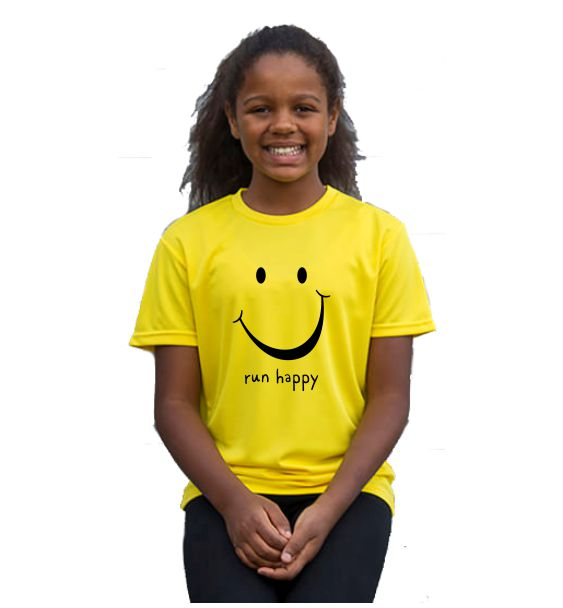 Kids running t-shirts run happy