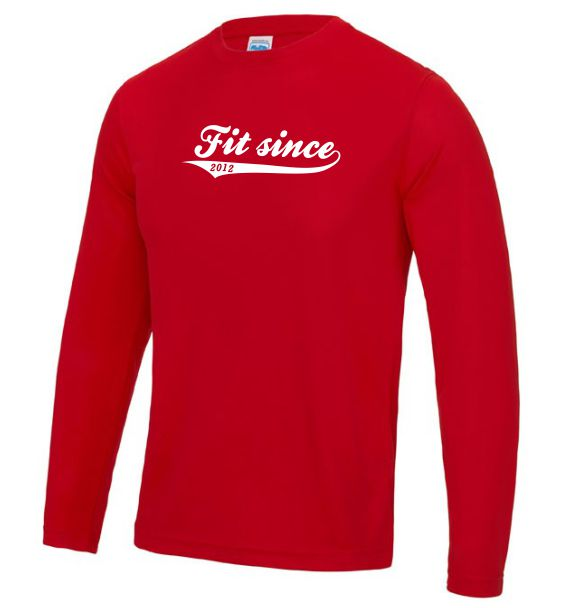 Mens long sleeve Running top fit since