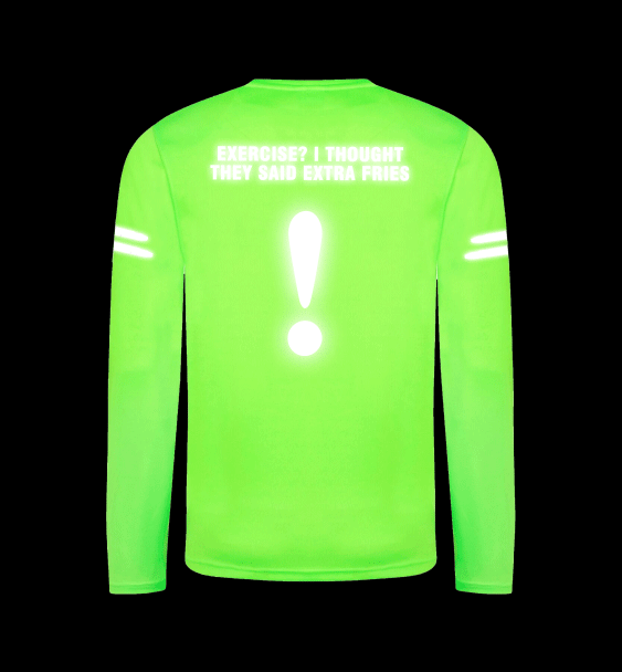 Custom Reflective Running Men's Long Sleeve