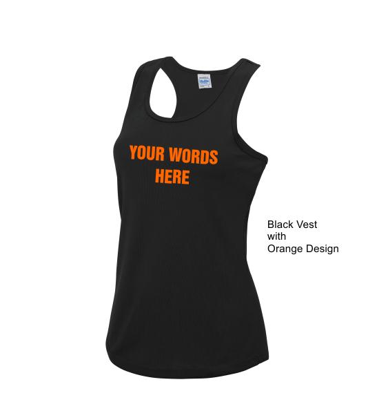 Custom running ladies t-shirts