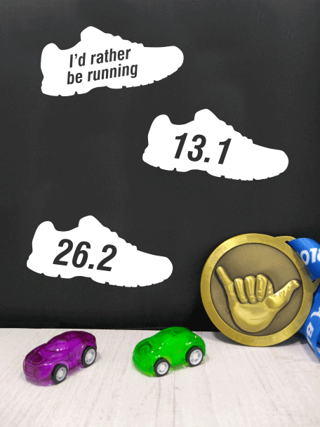 Running stickers