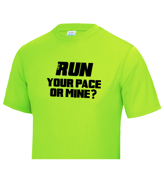 Run your pace or mine